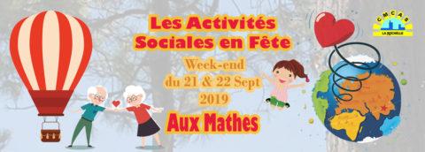 Les Activités Sociales en fête ! Réservez votre week-end du 21 et 22 septembre