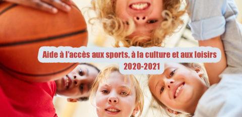 Aide à l'accès aux sports, à la culture et aux loisirs 2020/2021