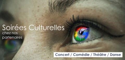 Soirées culturelles chez nos partenaires
